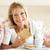portre · mutlu · kıdemli · kadın · kahvaltı · oturma - stok fotoğraf © monkey_business