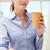 mujer · de · negocios · de · trabajo · portátil · potable · café · negocios - foto stock © monkey_business