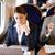 üzletasszony · ingázás · munka · vonat · laptopot · használ · férfi - stock fotó © monkey_business