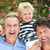 grandfather and father giving grandson ride on shoulders stock photo © monkey_business