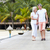 senior couple walking on wooden jetty stock photo © monkey_business