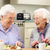 senior women enjoying meal together at home stock photo © monkey_business