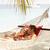 romantic couple relaxing in beach hammock stock photo © monkey_business