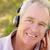 senior man with headphone stock photo © monkey_business