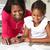 幸せ · 母親 · 支援 · 娘 · 宿題 · 女性 - ストックフォト © monkey_business