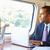 üzletember · ingázás · munka · vonat · laptopot · használ · férfi - stock fotó © monkey_business