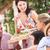 család · eszik · freskó · étel · nők · boldog - stock fotó © monkey_business