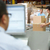 Person At Computer Terminal In Distribution Warehouse stock photo © monkey_business