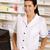 amerikai · gyógyszerész · számítógéphasználat · gyógyszertár · számítógép · orvosi - stock fotó © monkey_business