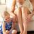 filha · pintura · mães · casa · mulheres · criança - foto stock © monkey_business