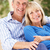 senior couple relaxing on sofa at home stock photo © monkey_business