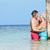 senior · romântico · casal · em · pé · belo · tropical - foto stock © monkey_business