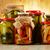 composition with jars of pickled vegetables marinated food stock photo © monticelllo