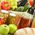 bakkal · ürünleri · alışveriş · sepeti · su · meyve · sağlık - stok fotoğraf © monticelllo