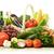 gyümölcsök · zöldségek · fonott · kosár · izolált · fehér - stock fotó © monticelllo