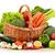nyers · zöldségek · fonott · kosár · izolált · fehér - stock fotó © monticelllo