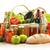 bakkal · ürünleri · alışveriş · sepeti · su · şarap · meyve - stok fotoğraf © monticelllo
