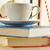 Composition with stack of books and cup of coffee stock photo © monticelllo