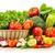 cesta · de · la · compra · frutas · hortalizas · aislado · blanco · foto - foto stock © monticelllo