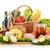 sepet · mutfak · masası · gıda · şarap - stok fotoğraf © monticelllo