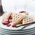 vers · gebakken · zoete · bessen · saus · tabel - stockfoto © moradoheath