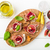 bruschetta · ham · basilicum · brood · koken - stockfoto © Moradoheath
