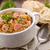 fresh lentil stew with sausages stock photo © moradoheath
