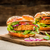 vegan · burger · comida · pão · jantar - foto stock © moradoheath