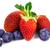 erdbeeren und heidelbeeren stockfoto © moradoheath