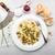 champignons · saus · vers · bieslook · brood - stockfoto © moradoheath