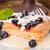 gebak · bosbessen · vanille · saus · mint · dessert - stockfoto © moradoheath