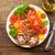 renkli · domates · salata · fesleğen · yeşil · sarı - stok fotoğraf © moradoheath