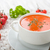 Tomatensuppe mit Croutons stockfoto © Moradoheath