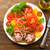 colorful tomato salad with basil stock photo © moradoheath