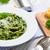 spinazie · parmezaan · vers · basilicum · diner · pasta - stockfoto © Moradoheath