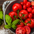 fresche · pomodori · ciotola · basilico · sale · studio - foto d'archivio © Moradoheath