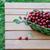 suculento · maduro · cerejas · cesta · mesa · de · madeira · ao · ar · livre - foto stock © Moravska