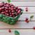maduro · cerejas · cesta · mesa · de · madeira · ao · ar · livre · comida - foto stock © Moravska
