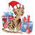 vector of santa cat with christmas gifts stock photo © morphart