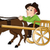 vector of man traveling in a horse drawn cart stock photo © morphart