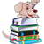 Vector of dog on stack of books. stock photo © Morphart