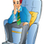 man sitting on a soft chair illustration stock photo © morphart