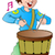 мало · барабанщик · мальчика · игрушку · красочный · барабан - Сток-фото © morphart