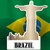 estátua · Brasil · relâmpago · salvador · azul · tempestade - foto stock © morphart