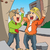 vector of two scared engineers screaming at site stock photo © morphart
