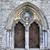 kilise · kapılar · eski · ahşap · kapalı · şehir - stok fotoğraf © morrbyte