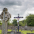 celtic cross headstone and crucifix stock photo © morrbyte