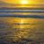 yellow sunset at beal beach stock photo © morrbyte