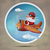 christmas · vliegtuig · illustratie · hemel - stockfoto © motttive