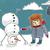 nino · muñeco · de · nieve · eps · 10 · pequeño · funny - foto stock © motttive